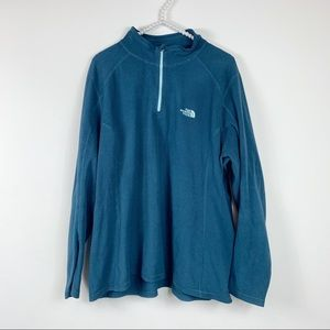 The North Face TKA 100 Glacier 1/4 Zip teal XXL